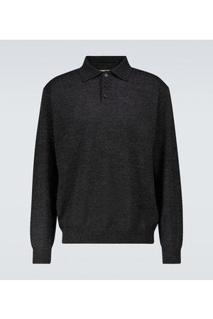 Maison Margiela Wool long-sleeved polo sweater