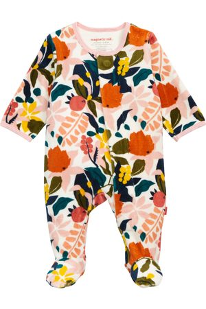 Magnetic Me Infant Girl's Rayleigh Velour Footie