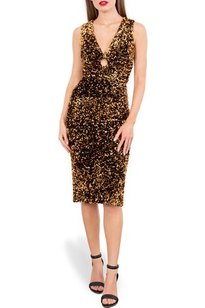HELSI Women's Alex Sequin Keyhole Sleeveless Dress