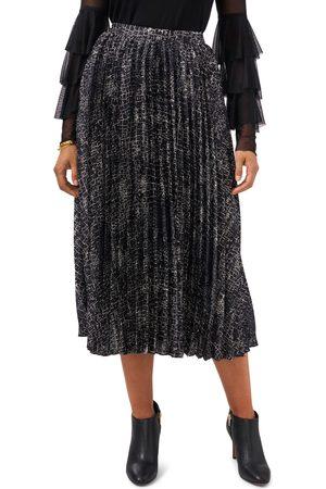 Vince Camuto Women's Croc Print Pleated Skirt