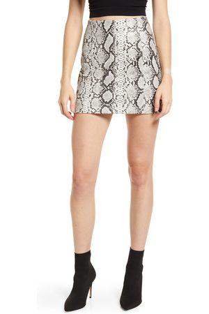 Lulus Women's Venture Out Snakeskin Print Miniskirt