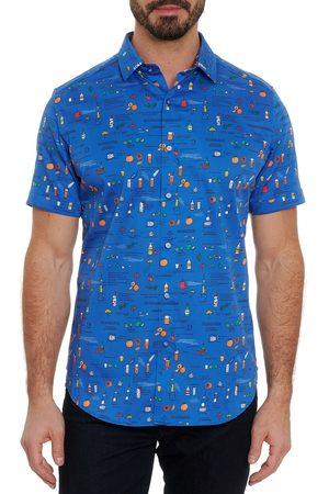 Robert Graham Men's Brunch Classic Fit Short Sleeve Stretch Cotton Button-Up Shirt