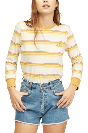 Billabong Women's X Wrangler Going Retro Stripe Cotton Long Sleeve T-Shirt