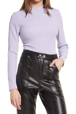 Topshop Women's Mock Neck Long Sleeve Bodysuit