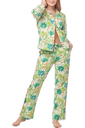 The Lazy Poet Women's Emma Monkey Paradise Cotton Pajamas