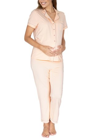 Angel Maternity Women's Button Front Maternity Pajamas
