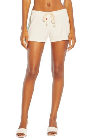 Wild Fox Women's Speedway Stripes Cotton Shorts