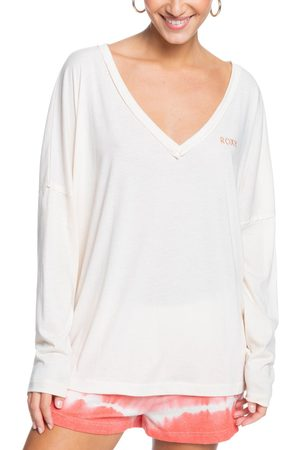 Roxy Women's Are You Ready To Go Long Sleeve Cotton Blend Top