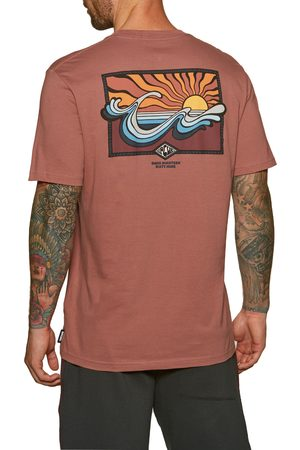 Rip Curl Swc Hazed s Short Sleeve T-Shirt - Washed Wine