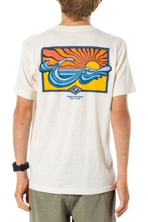 Rip Curl Swc Hazed Boys Short Sleeve T-Shirt - Bone