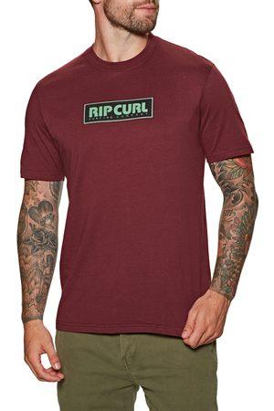 Rip Curl Big Mumma Icon s Short Sleeve T-Shirt - Maroon