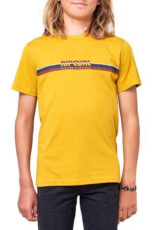 Rip Curl Mama Horizon Boys Short Sleeve T-Shirt - Mustard