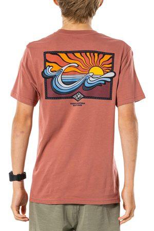 Rip Curl Swc Hazed Boys Short Sleeve T-Shirt - Washed Wine