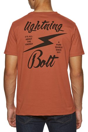 Lightning Bolt Big Bolt s Short Sleeve T-Shirt - Burnt Brick