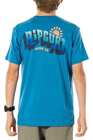 Rip Curl Wavey Logo Boys Short Sleeve T-Shirt - Ocean