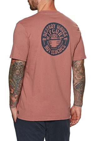 Rip Curl Down The Line s Short Sleeve T-Shirt - Washed Wine