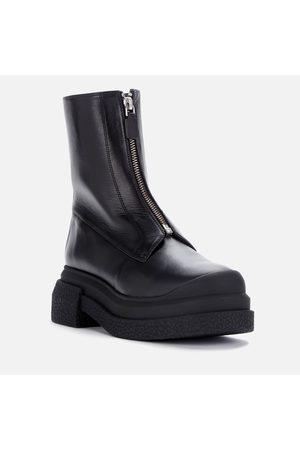 Stuart Weitzman Women Boots - Women's Charli Zip Leather Sportlift Boots