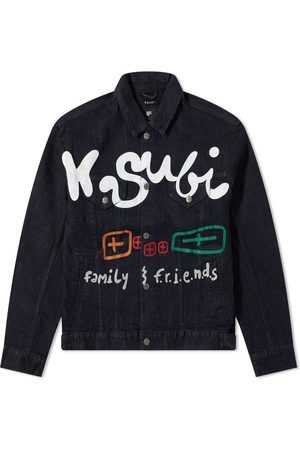 KSUBI Men Denim Jackets - X Hidji Oh G Community Denim Jacket