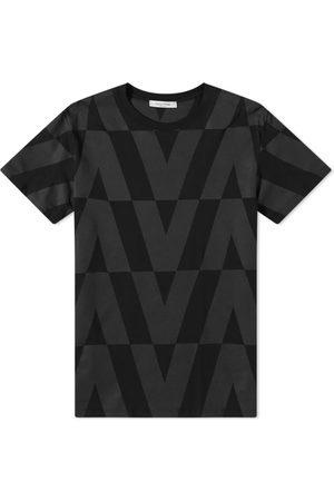 VALENTINO Men T-shirts - Tonal Optical Logo Tee