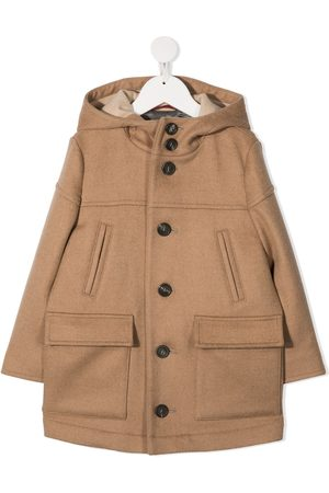Brunello Cucinelli Boys Duffle Coat - Hooded duffle coat - Neutrals