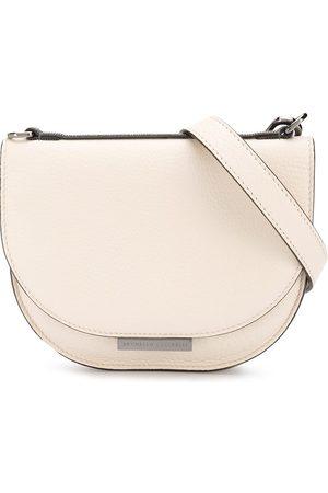 Brunello Cucinelli Girls Bags - Logo plaque crossbody bag - Neutrals