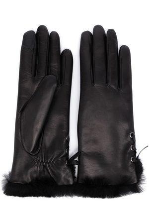 AGNELLE Women Gloves - Lace-up fur lined gloves