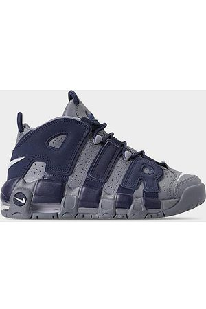 Nike Boys Sneakers - Boys' Big Kids' Air More Uptempo '96 Basketball Shoes in Grey/Cool Grey Size 4.0 Leather