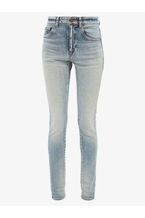 Saint Laurent High-rise Skinny-leg Jeans - Womens - Light Denim