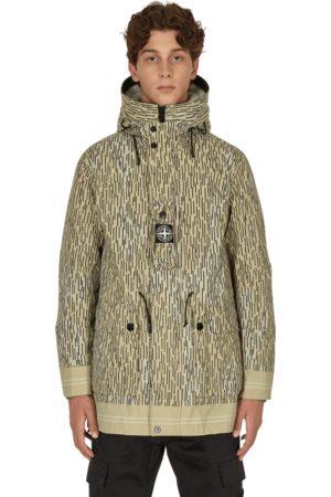 Stone Island Naslan light watro rain camo reflective parka jacket NATURAL S