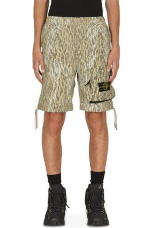Stone Island Men Rainwear - Naslan light watro rain camo print shorts NATURAL 30