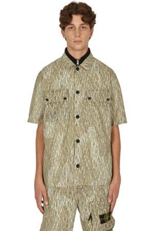 Stone Island Men Rainwear - Naslan light watro rain camo print shirt NATURAL S