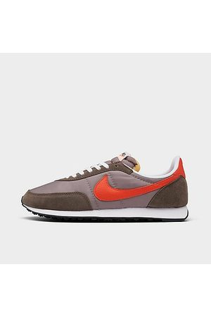 Nike Men's Waffle Trainer 2 Casual Shoes in Brown/Moon Fossil Size 7.5 Leather/Nylon/Suede