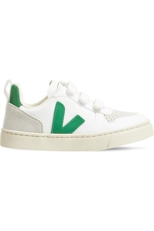 Veja Boys Sneakers - V-10 Cotton & Suede Strap Sneakers