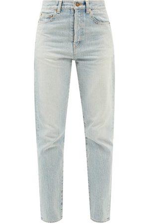 Saint Laurent High-rise Slim-leg Jeans - Womens - Light Denim