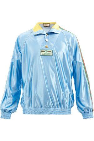 Gucci Men Sports Jackets - Web-stripe Jersey Track Jacket - Mens