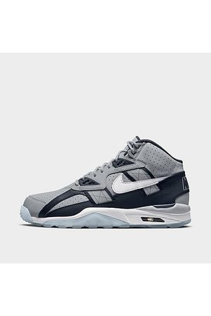 Nike Men Casual Shoes - Men's Air Trainer SC High Casual Shoes in Grey/Wolf Grey Size 7.5