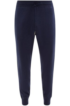 Tom Ford Tapered-leg Cotton-blend Jersey Track Pants - Mens
