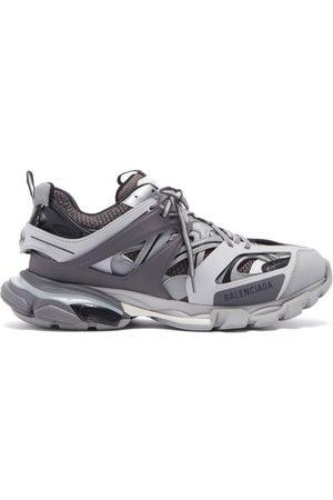 Balenciaga Track Panelled Trainers - Mens - Grey Multi