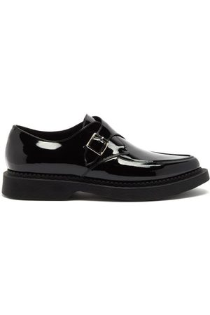 Saint Laurent Teddy Chunky-sole Monk-strap Leather Loafers - Womens