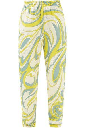 Emilio Pucci Women Sweatpants - Vortici-print Cotton-jersey Track Pants - Womens - Print