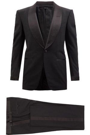 Tom Ford Men Blazers - Shawl-lapel Wool-blend Crepe Tuxedo - Mens