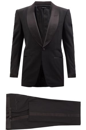 Tom Ford Shawl-lapel Wool-blend Crepe Tuxedo - Mens