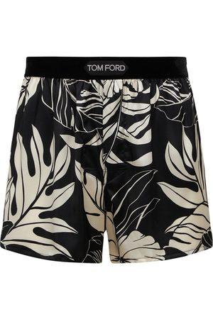 Tom Ford Hibiscus Print Stretch Silk Boxer Briefs