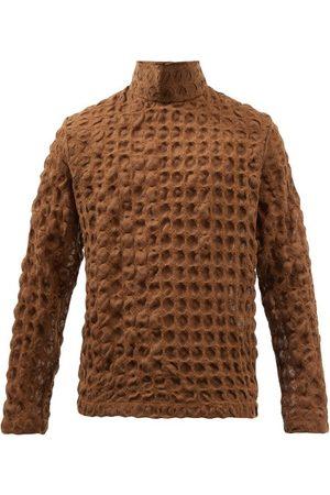 Séfr Men Turtlenecks - Leam High-neck Wool-cloqué Sweater - Mens