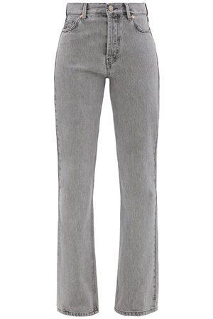 Raey Women Bootcut - Angel Organic-cotton Bootcut Jeans - Womens - Light Grey