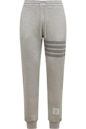Thom Browne Cotton Jersey Sweatpants W/ 4 Bar