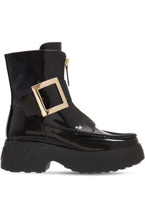 Roger Vivier Women Boots - 65mm Viv Rangers Patent Leather Boots