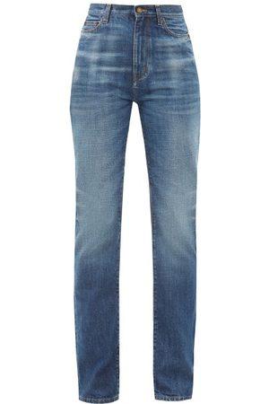Saint Laurent Women High Waisted - High-rise Wide-leg Jeans - Womens - Denim