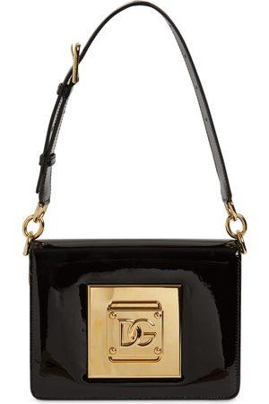 Dolce & Gabbana Women Shoulder Bags - Dg Cubo Varnished Soft Leather Bag
