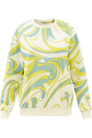 Emilio Pucci Women Sweatshirts - Vortici-print Cotton-jersey Sweatshirt - Womens - Print